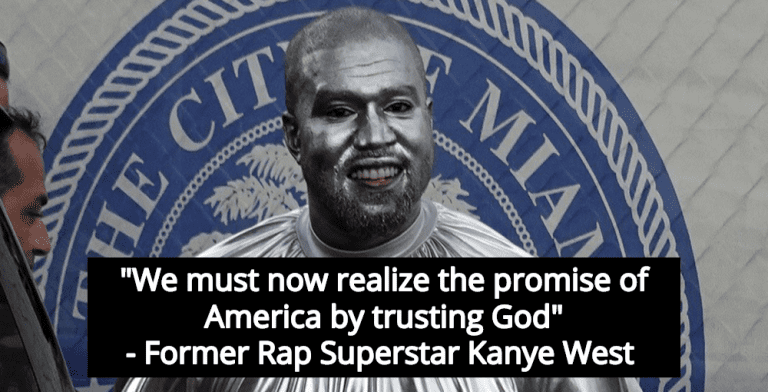Kanye West Announces 2020 Presidential Run, Calls On Americans To 'Trust God' (Image via Screen Grab)