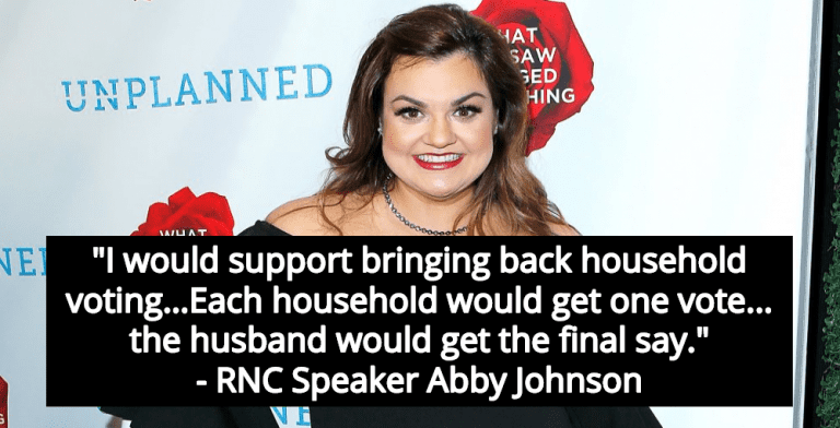 RNC Speaker Supports Household Voting - One Vote Per Family, Man Decides (Image via Twitter)
