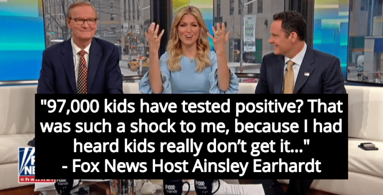 Fox News Host 'Shocked' To Learn Children Catch COVID-19 (Image via Twitter)