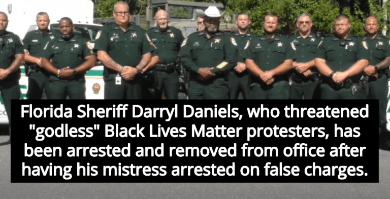 Florida Sheriff Who Threatened 'Godless' BLM Protesters Removed From Office (Image via Screen Grab)
