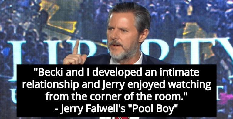 Report: Jerry Falwell Watched While 'Pool Boy' Had Sex With His Wife (Image via YouTube)