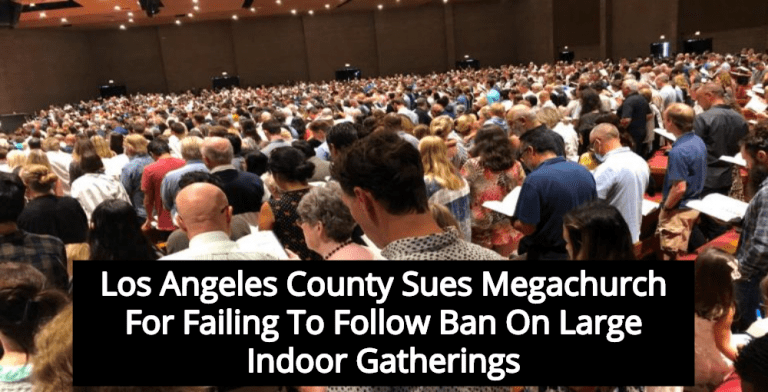 Los Angeles County Sues Megachurch For Hosting Thousands In Defiance Of Public Health Orders (Image via Twitter)