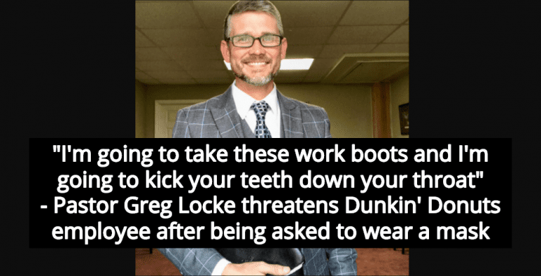 Trump-Loving Anti-Mask Pastor Threatens Dunkin' Donuts Employee With Assault (Image via Twitter)