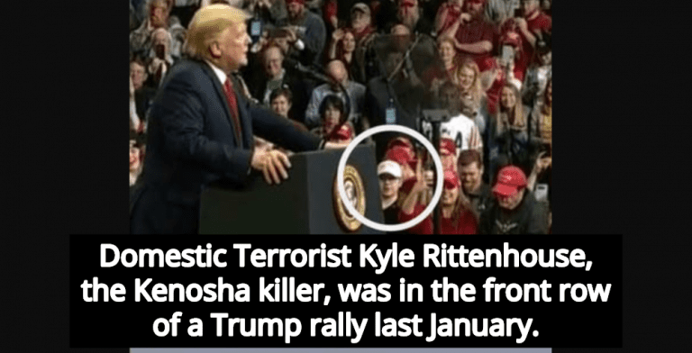Kenosha Killer Kyle Rittenhouse Attended Trump Rally In January (Image via Twitter)