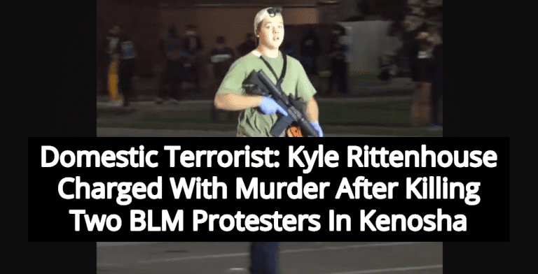 Kyle Rittenhouse Charged With Murder After Killing Two BLM Protesters In Kenosha (Image via Twitter)