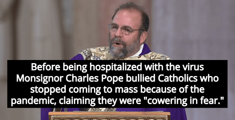 Hundreds Forced To Quarantine After Priest Who Mocked COVID Hospitalized With Virus (Image via YouTube)