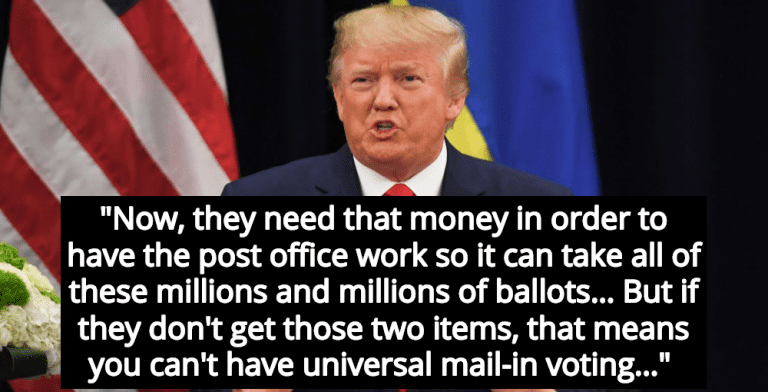 Trump Admits He Will Destroy Postal Service To Prevent Voting By Mail (Image via Screen Grab)