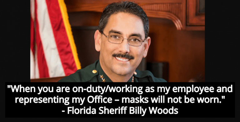 Florida Sheriff Billy Woods Forbids Officers, Staff, Visitors From Wear Face Masks (Image via Marion County Sheriff's Department)