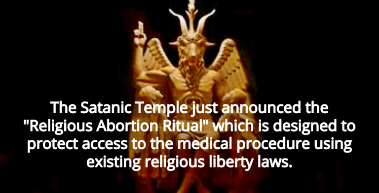 The Satanic Temple Announces 'Religious Abortion Ritual' To Overcome Anti-Abortion Laws (Image via YouTube)