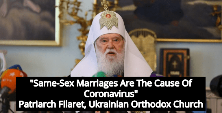 Orthodox Church Leader Who Blamed COVID-19 On Gays Is Now Sick With Virus (Image via YouTube)