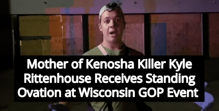 Wisconsin GOP Gives Mother Of Kenosha Killer Kyle Rittenhouse Standing Ovation (Image via YouTube)