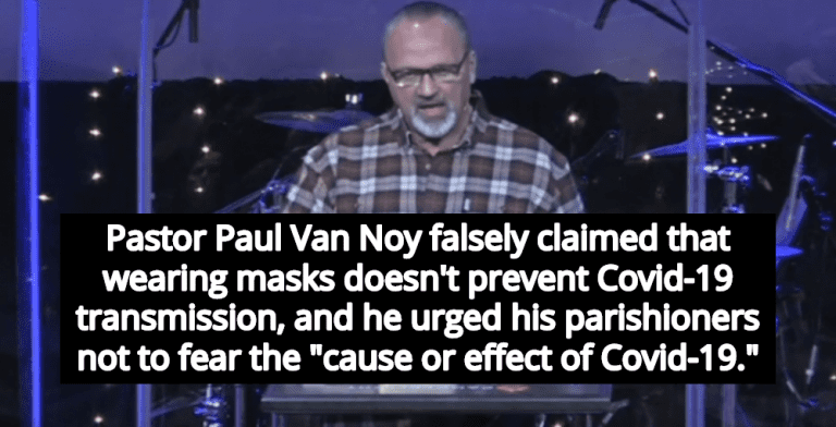Idaho Pastor Who Defied Mask Mandate Now In ICU Fighting COVID-19 (Image via Screen Grab)
