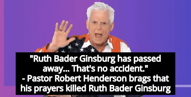 Trump-Loving Pastor Claims His Prayers Caused Ruth Bader Ginsburg's Death (Image via YouTube)