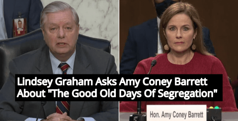 Lindsey Graham Asks Amy Coney Barrett About 'The Good Old Days Of Segregation' (Image via YouTube)