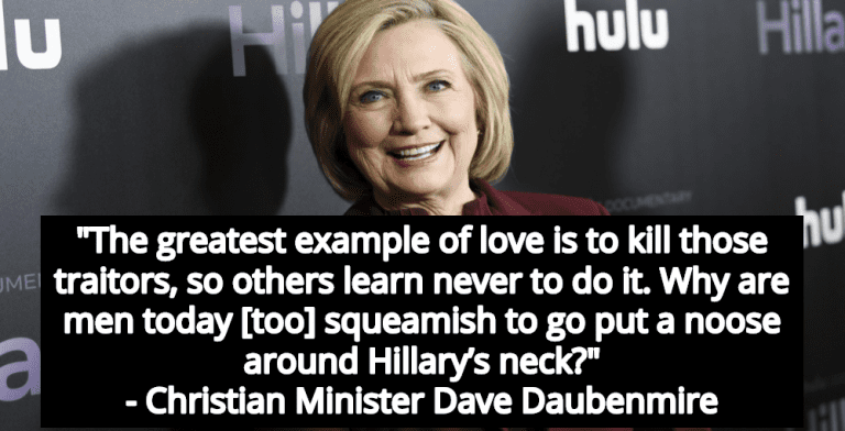 Christian Minister Calls For The Execution Of 'Demonic' Hillary Clinton (Image via YouTube)