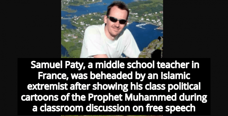 Teacher Beheaded In France After Showing Cartoons Of Prophet Muhammad (Image via YouTube)