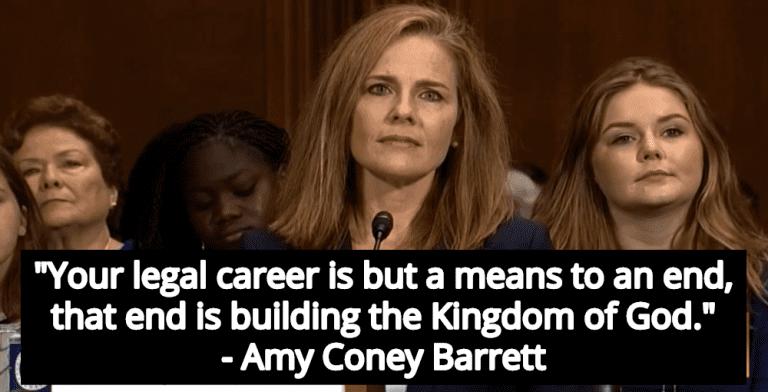 Amy Coney Barrett Tells New Lawyers Their Job Is To Build 'Kingdom Of God' (Image via Screen Grab)