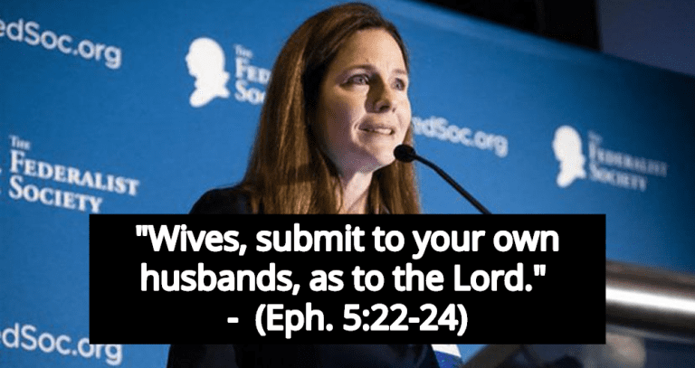 Federalist: 'Strong Women Like Amy Coney Barrett Submit To Their Husbands With Joy' (Image via YouTube)