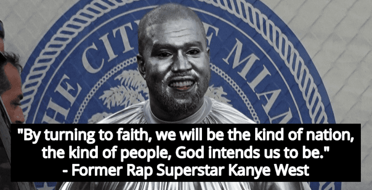 Kanye West Launches Faith-Based Presidential Write-In Campaign To Sabotage Biden (Image via Screen Grab)