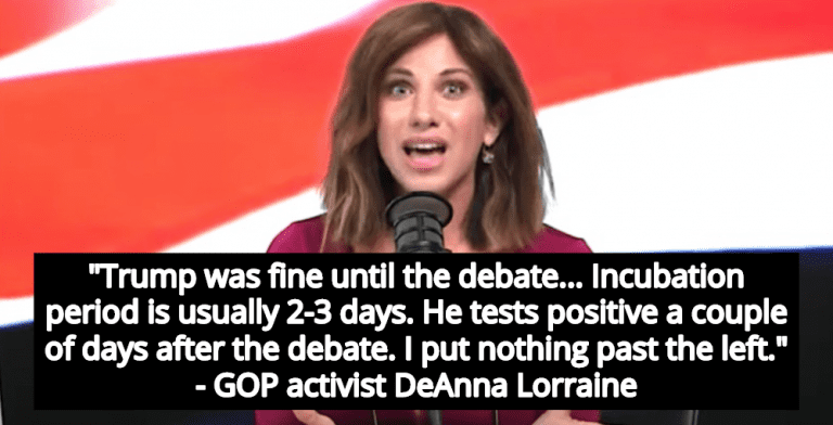 GOP Activist Claims Democrats Infected Trump With COVID-19 At Debate (Image via Screen Grab)