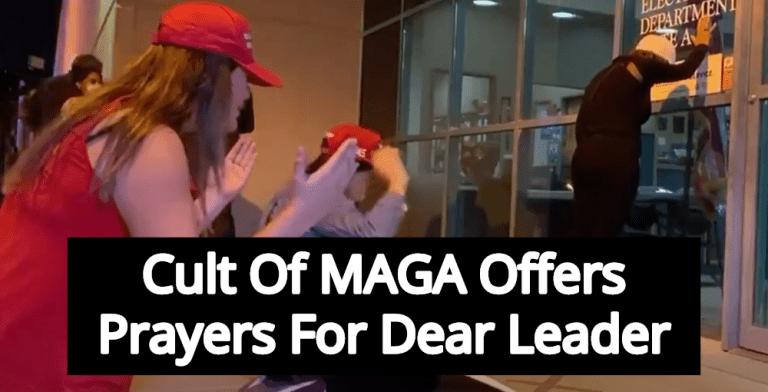 Cult Of MAGA: Wacky Trump Prayer Vigil Outside Nevada Election Office Goes Viral (Image via Screen Grab)
