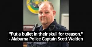 Alabama Police Captain On Biden Voters: 'Put A Bullet In Their Skull For Treason' (Image via Flomaton Police Department)