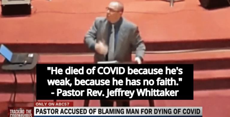Michigan Pastor Blames Man's COVID Death On Lack Of Faith (Image via Screen Grab)