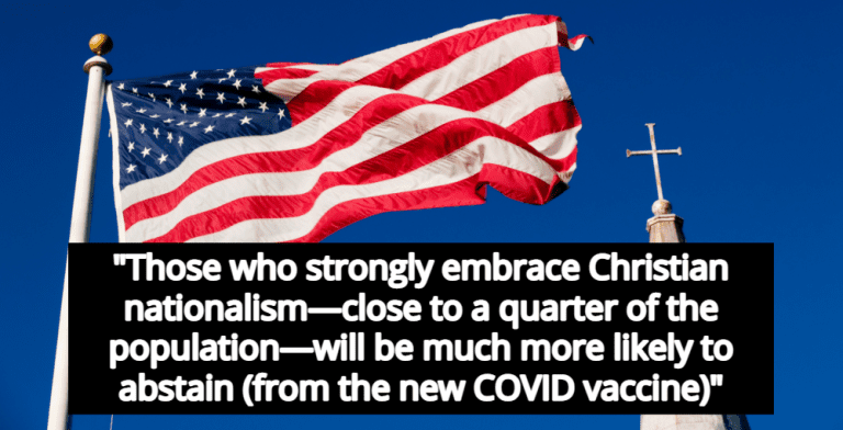 Study: Christian Nationalists Much More Likely To Refuse New COVID Vaccine (Image via YouTube)