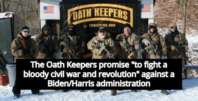 Report: Oath Keepers Plan 'Bloody Civil War' If Trump Leaves Office (Image via YouTube)