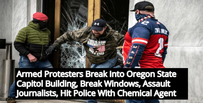 4 Arrested After Armed Trump Supporters Storm Oregon Capitol, Assault Journalists (Image via Facebook)