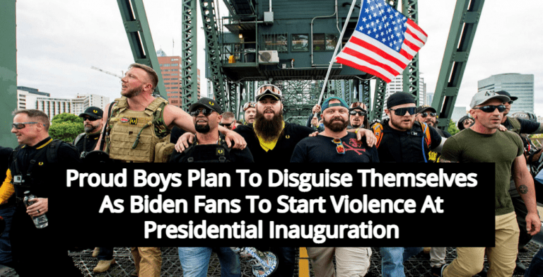 Proud Boys Call For Disguises, Violence At Biden Inauguration (Image via Twitter)