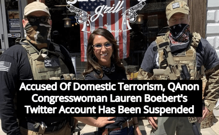 Accused Of Aiding Terrorists, Twitter Locks QAnon Congresswoman Boebert's Account (Image via Twitter)