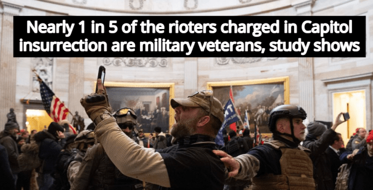 Study: Nearly 1 In 5 Terrorists Charged In Capitol Insurrection Are Military Veterans (Image via twitter)