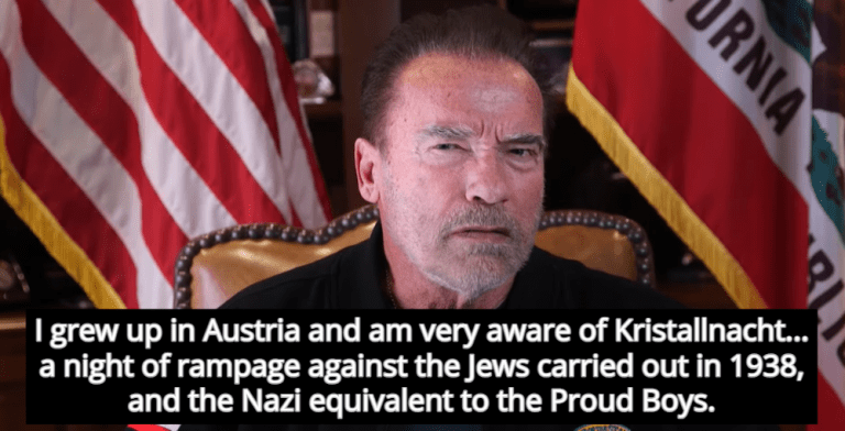 Arnold Schwarzenegger Compares Attempted Coup At Capitol To Rise Of Nazis (Image via Screen Grab)