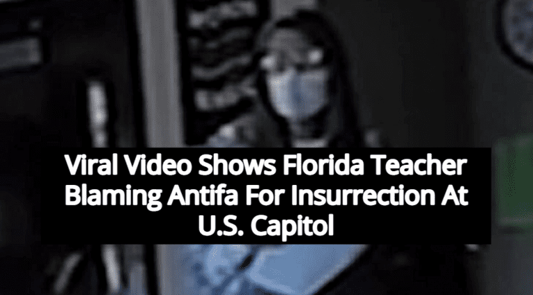 Florida Teacher Fired After Telling Students Antifa Was Behind Capitol Insurrection (Image via Screen Grab)