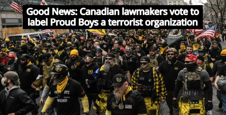 Canadian Lawmakers Vote To Classify Proud Boys As Terrorist Organization (Image via Twitter)