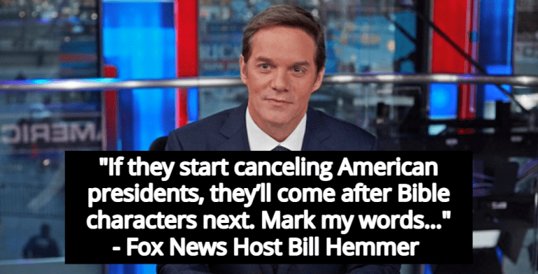 Fox News Host Bill Hemmer Warns Cancel Culture Will 'Come After Bible Characters' (Image via Screen Grab)