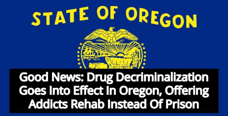 Oregon Decriminalizes All Drugs - Offering Addicts Treatment Instead Of Prison (Image via Wikimedia)
