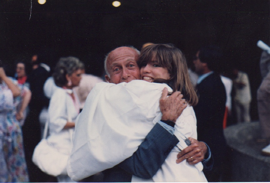 My grandfather and me at my high school graduation.