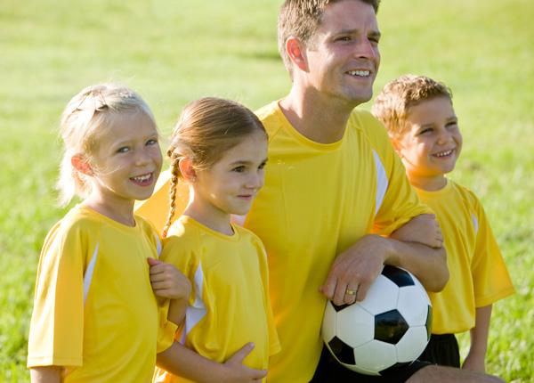 Soccer coach dad