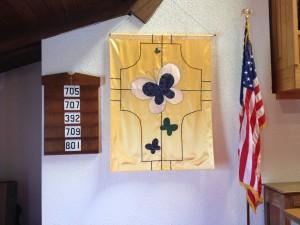 Church butterfly banner