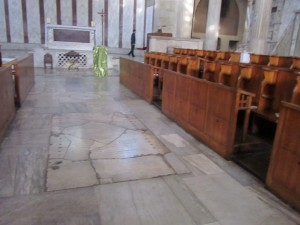 Empty Basilica Santa Sabina, Image Elizabeth Scalia