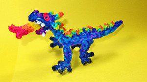 Dragon made of Loom Bands.