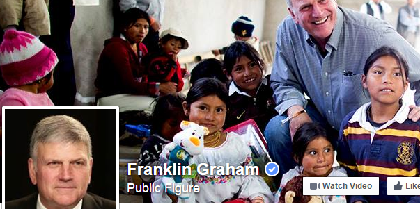 Screenshot from Franklin Graham's Facebook Page