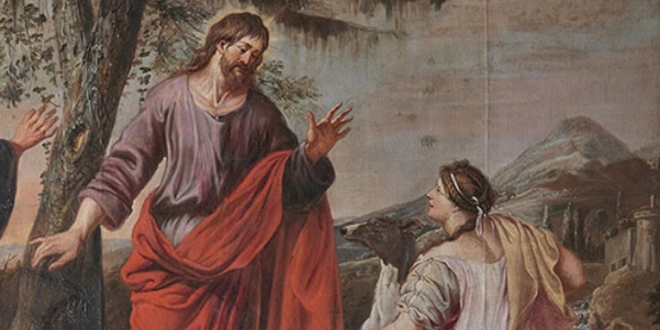 """""""The Woman of Canaan"""" by Michael Angelo Immenraet. Public Domain. Wikimedia. Some Changes Made."""