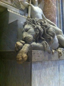 Part of a monument inside St. Peter's, Rome.