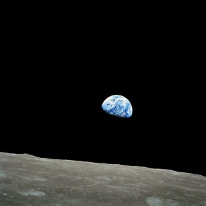 """NASA-Apollo8-Dec24-Earthrise"" by NASA / Bill Anders - http://www.hq.nasa.gov/office/pao/History/alsj/a410/AS8-14-2383HR.jpg. Licensed under Public Domain via Wikimedia Commons - http://commons.wikimedia.org/wiki/File:NASA-Apollo8-Dec24-Earthrise.jpg#/media/File:NASA-Apollo8-Dec24-Earthrise.jpg"