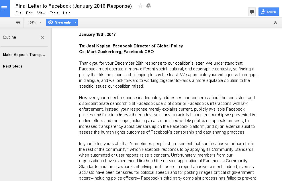 Facebook-CivilRightsCoalition-OpenLetter-Jan2017