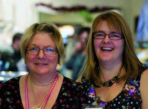 Clare (right) with volunteer Sue Smith.