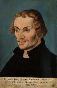 Philip Melanchthon as painted by famous Reformation artist Lucas Cranach. Image: Wikipedia.